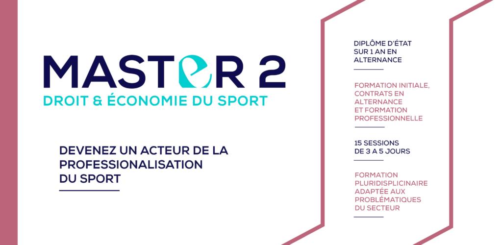 Formation Master 2 Droit et Economie du Sport CDES LImoges