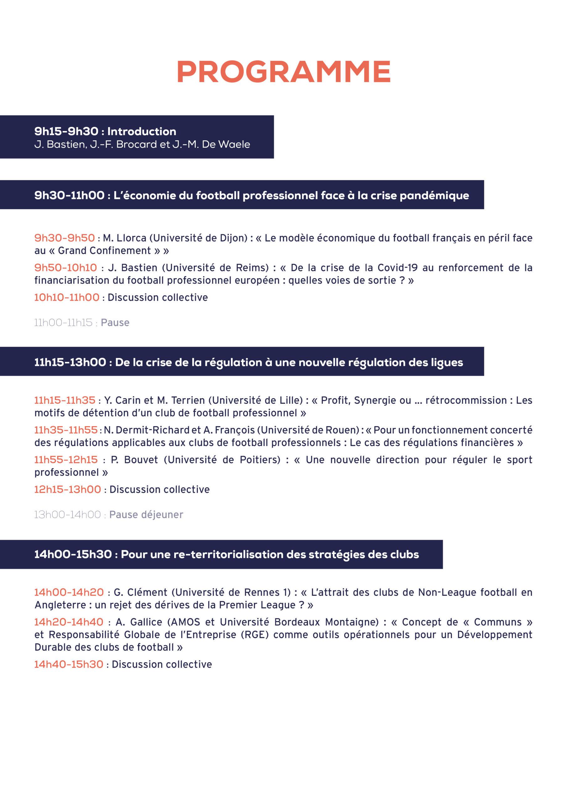 Programme Webinar régulation football2