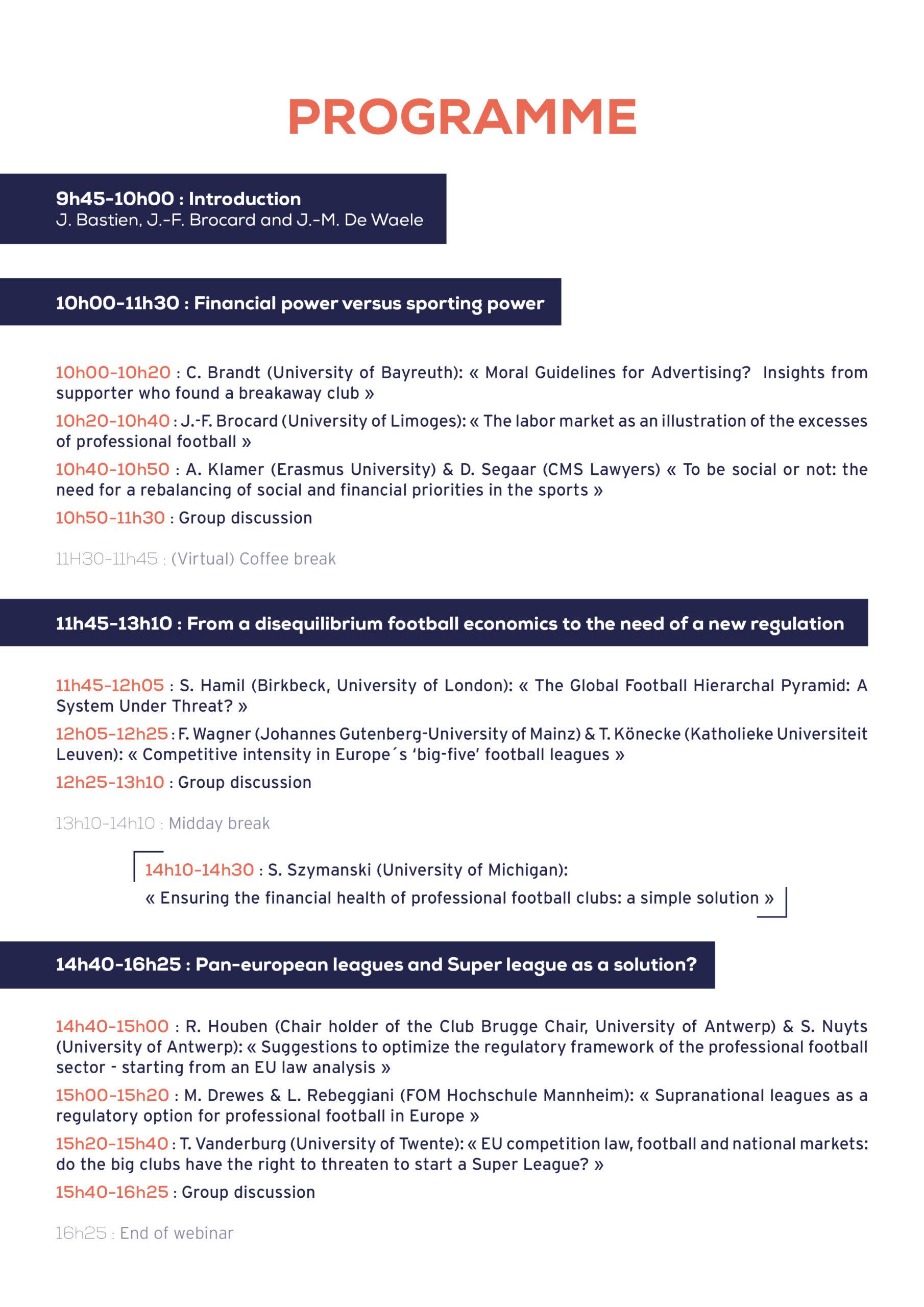 Webinar programm football regulation2