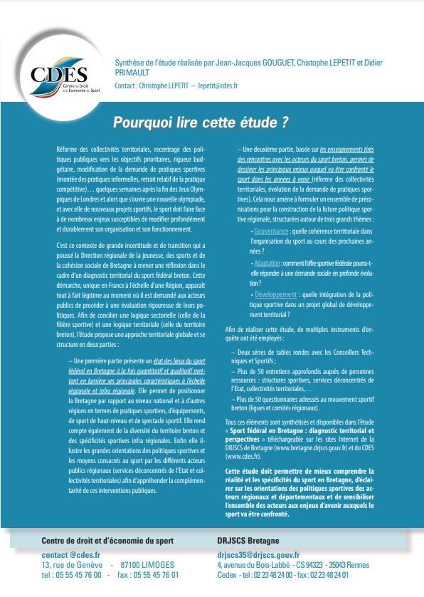 Plaquette présentation étude sport breton 2